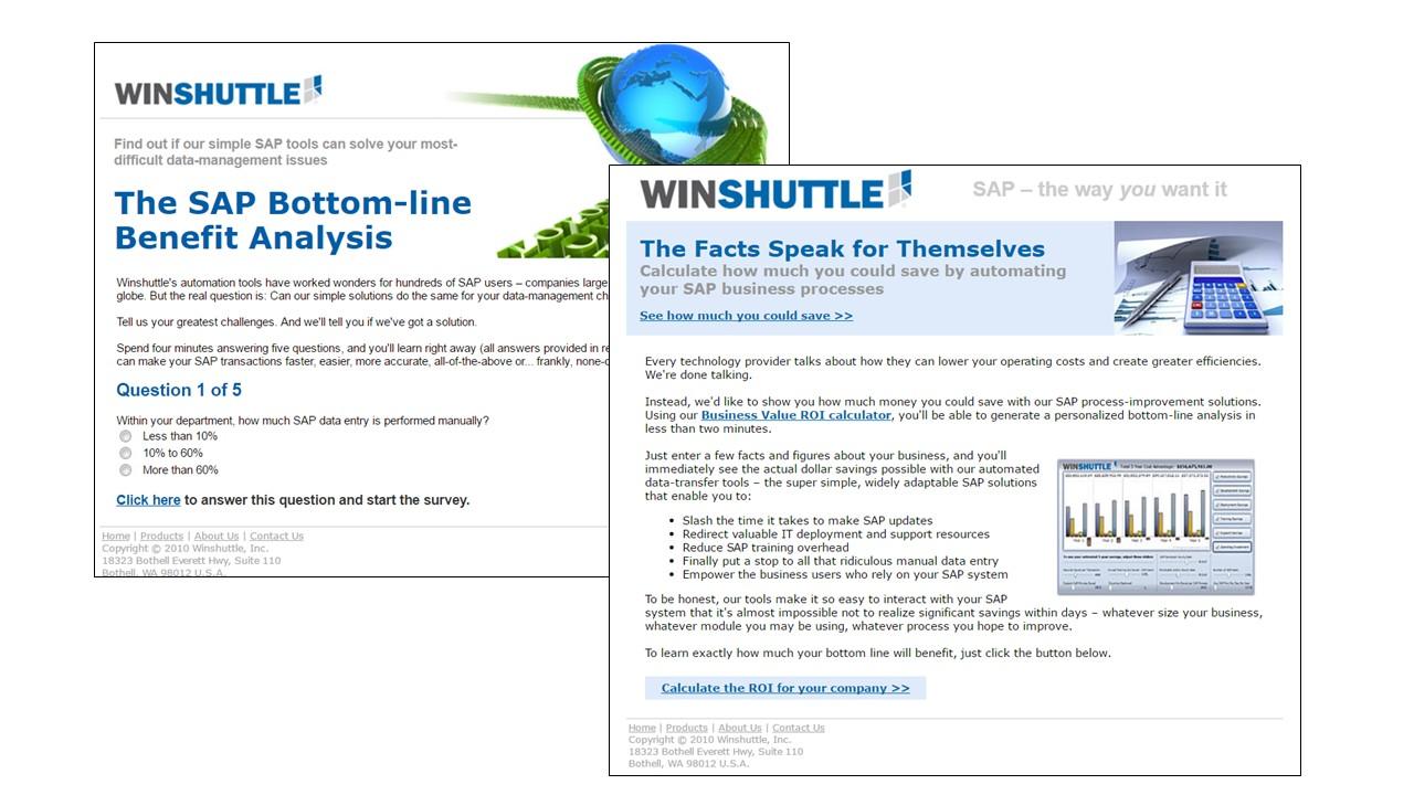 WinShuttle Email Sample